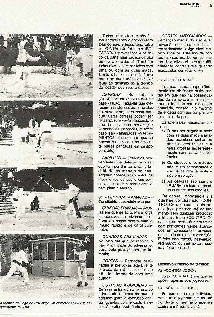 artigo de jogo do pau 1983