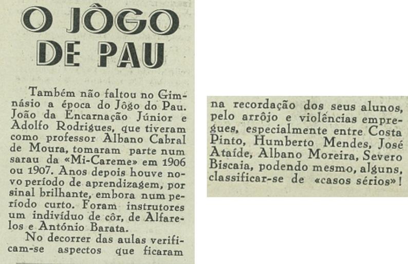 Jogo de pau no Ginásio Clube Figueirense